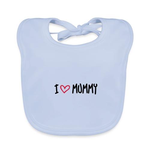 Ekologisk babyhaklapp,  I love mummy - Ekologisk babyhaklapp