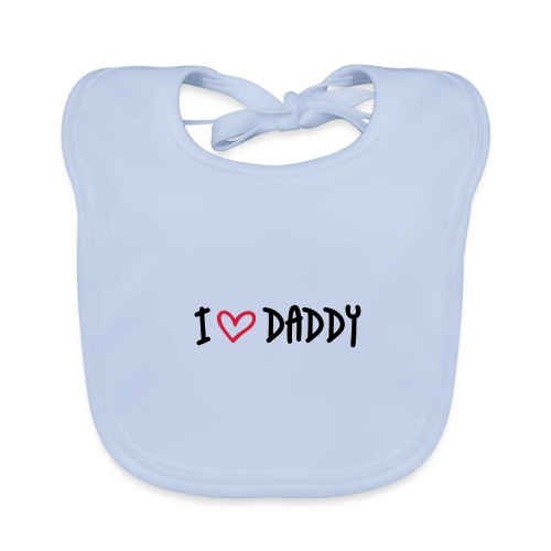 Ekologisk babyhaklapp,  I love daddy - Ekologisk babyhaklapp