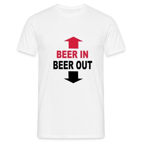 T-shirt, herr, Beer in, beer out - T-shirt herr