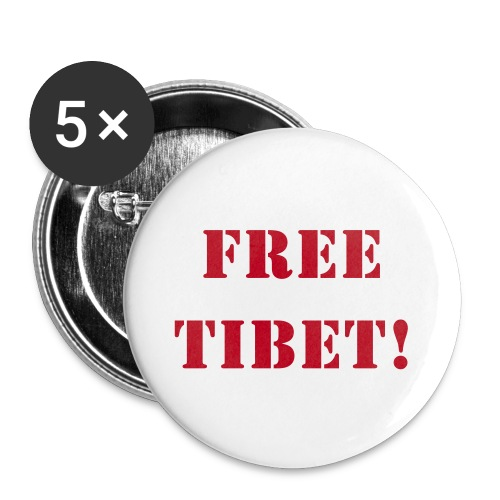 Free Tibet Anstecker - Buttons klein 25 mm
