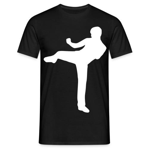 black and White Sports Shirt - Men's T-Shirt