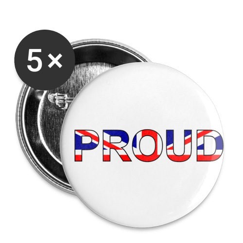 Proud UK Badge (5 Pack) - Buttons small 1''/25 mm (5-pack)
