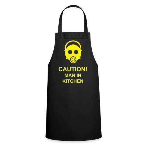 Caution! - 'Man in Kitchen' Apron - Cooking Apron