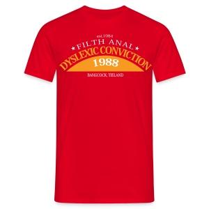 Dyslexic Convention '88 - No Text - Mannen T-shirt