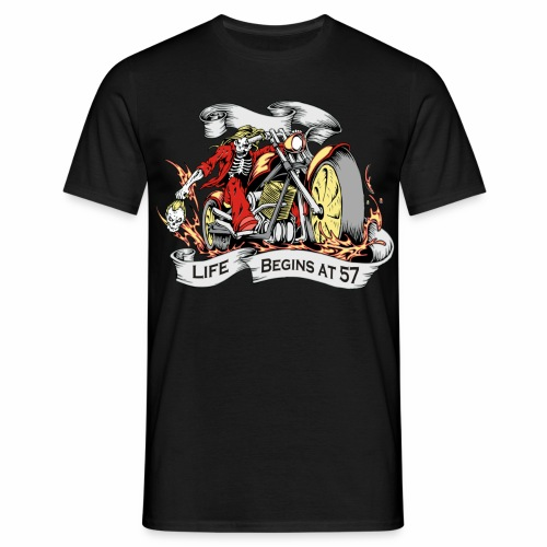Life begins at 57 (R10) - Men's T-Shirt
