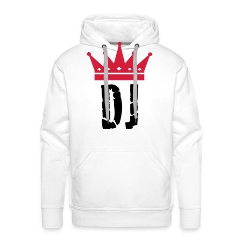 King Dj - Felpa con cappuccio premium da uomo