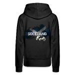 £33.28-Grunge Hoodie in Black with Scotland