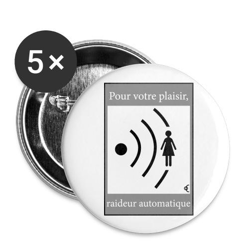 Raideur automatique - Badge petit 25 mm
