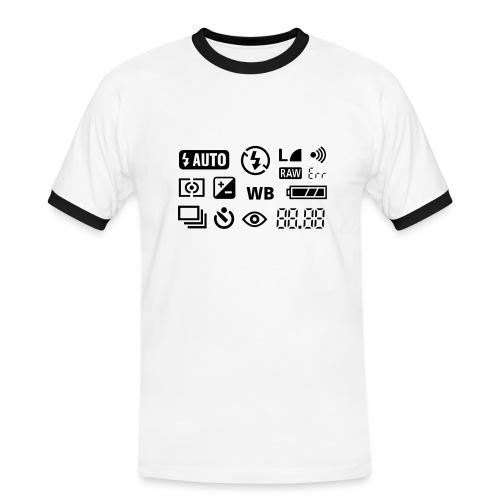 Fotografen Retro-Shirt - Männer Kontrast-T-Shirt