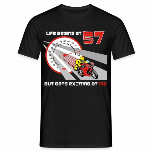Life begins at 57 (R11) - Men's T-Shirt
