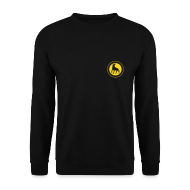 Hoodies & Sweatshirts ~ Men's Sweatshirt ~ Leaping Wolf Sweatshirt