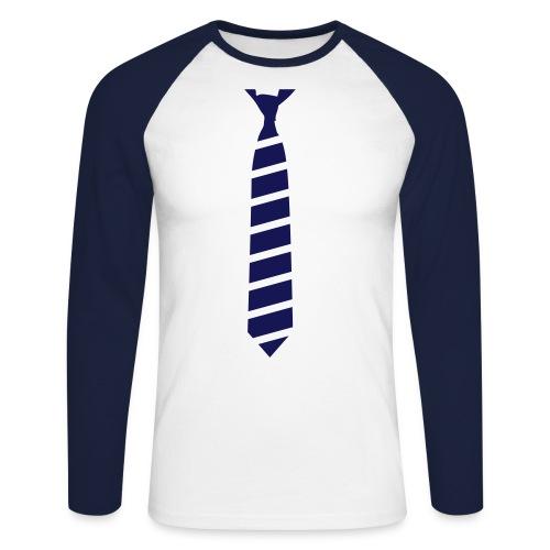 Krawatte Langarm - Männer Baseballshirt langarm
