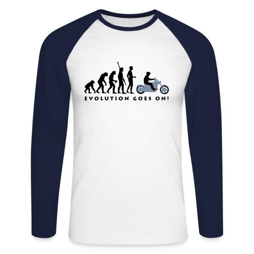 Evolution  Langarm - Männer Baseballshirt langarm