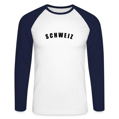 Schweiz  Langarm - Männer Baseballshirt langarm