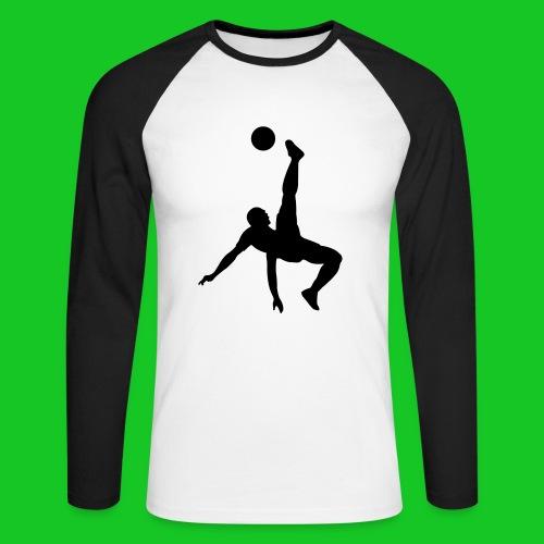 Voetbal omhaal tweekleurig mshirt - Mannen baseballshirt lange mouw
