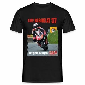 Life begins at 57 (R7) - Men's T-Shirt