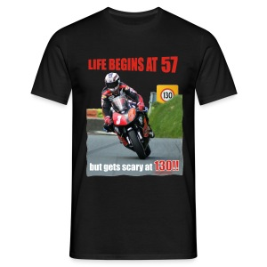 Life begins at 57 (R7) - Men's T-Shirt