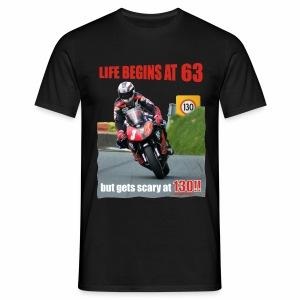 Life begins at 63 (R7) - Men's T-Shirt