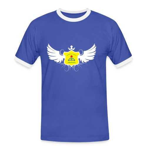 Men Blue Crown T-Shirt - Men's Ringer Shirt