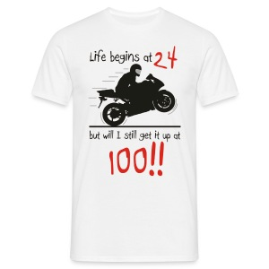 Life begins at 24 - Men's T-Shirt