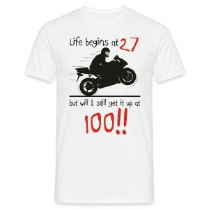 Life begins at 27 - Men's T-Shirt