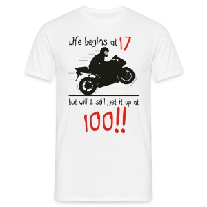 Life begins at 17 - Men's T-Shirt