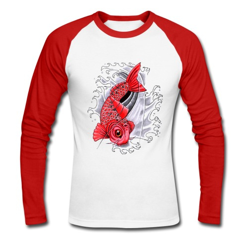 Japanese Carp - Men's Long Sleeve Baseball T-Shirt
