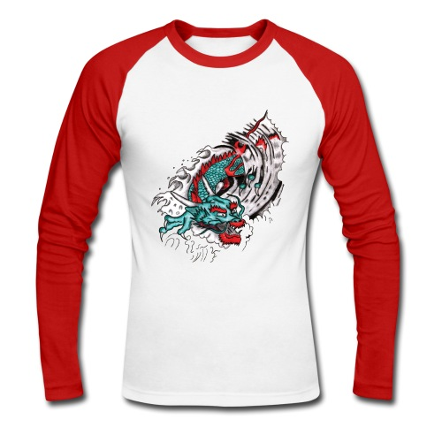 Japanese Dragon - Men's Long Sleeve Baseball T-Shirt