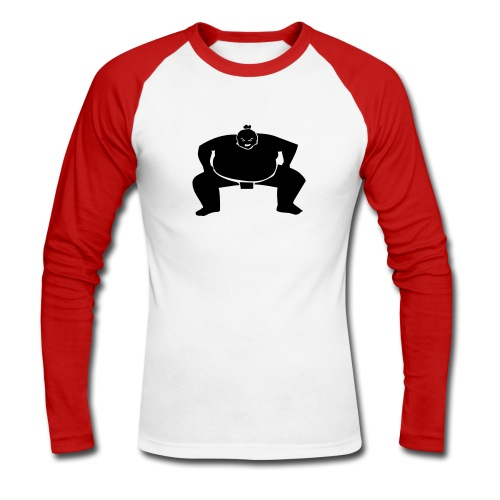 Japanese sumo - Men's Long Sleeve Baseball T-Shirt
