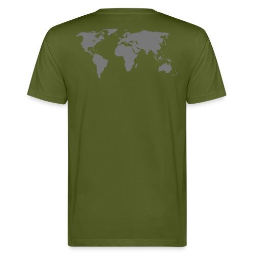 Jordenkarta, bak - Ekologisk T-shirt herr