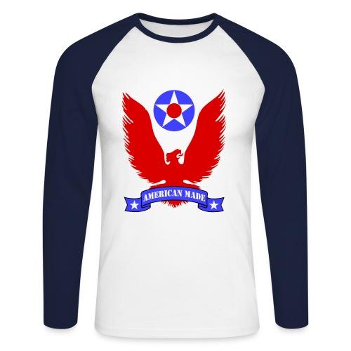 College american made - Men's Long Sleeve Baseball T-Shirt