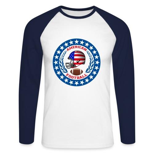 College american football - Men's Long Sleeve Baseball T-Shirt