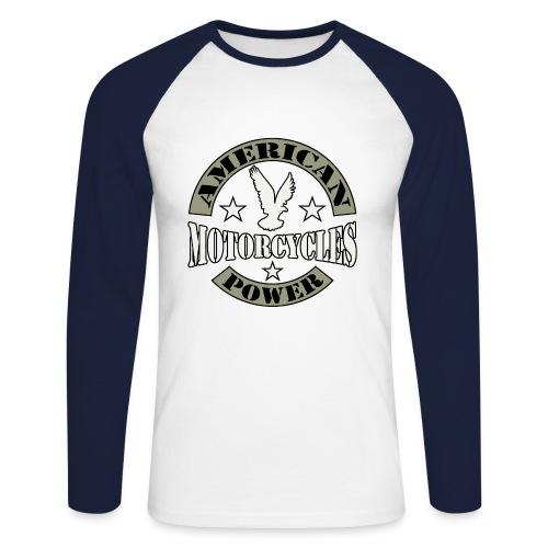 College american Bike - Men's Long Sleeve Baseball T-Shirt