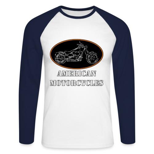 College american harleym - Men's Long Sleeve Baseball T-Shirt