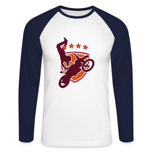College american biker - Men's Long Sleeve Baseball T-Shirt