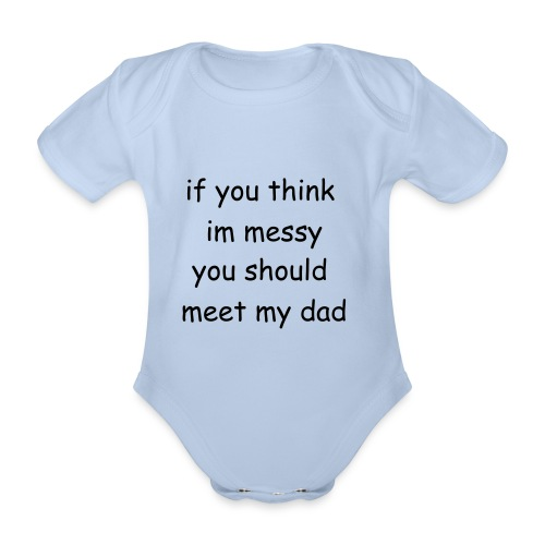 father like son baby grow - Organic Short-sleeved Baby Bodysuit