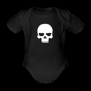 Black Skull Baby Bodysuits