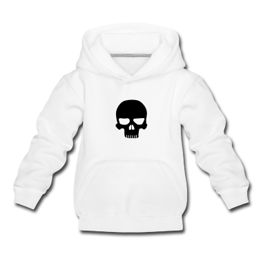 Light heather grey Skull Kids' Tops