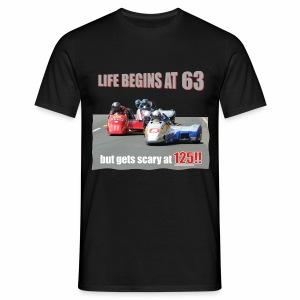 Life begins at 63 (R9) - Men's T-Shirt