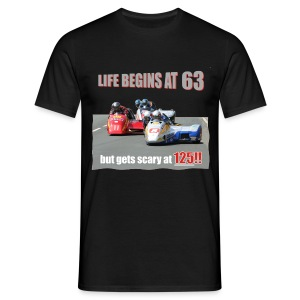 Life begins at 63 (R9) - Men's T-Shirt