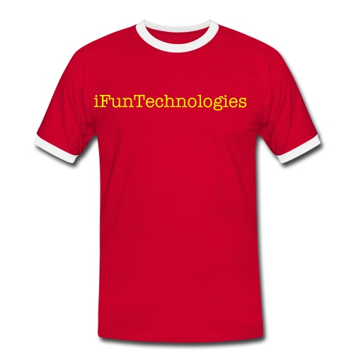 iFunTechnologies Branding T-Shirt [SHORT SLEEVE RED] - Men's Ringer Shirt