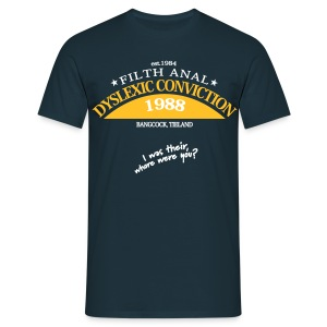 Dyslexic Convention '88 - Mannen T-shirt