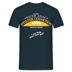 Dyslexic Convention '88 - Mannen T-shirt