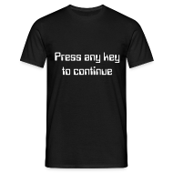 T-shirts ~ Mannen T-shirt ~ Press any key to continue