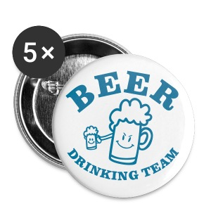 Button beer drinking team  - Buttons middel 32 mm