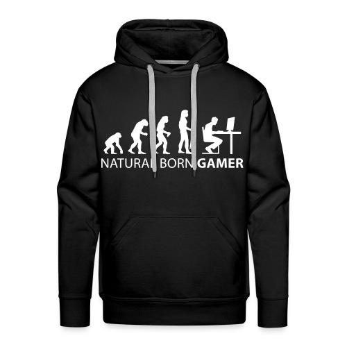 MGS™ Men's Hoodie-NATURAL BORN GAMER - Men's Premium Hoodie