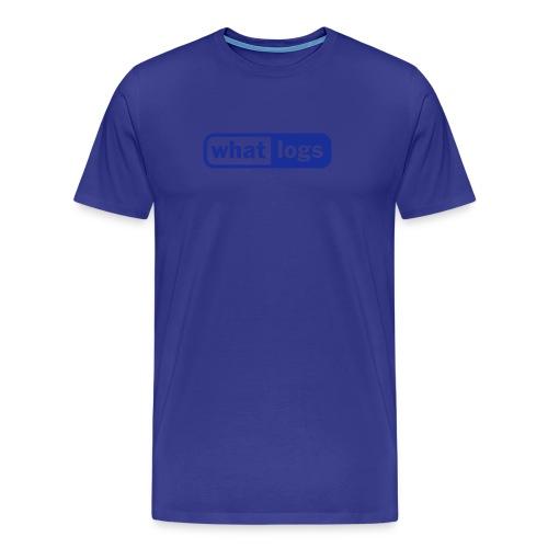 What logs - Männer Premium T-Shirt