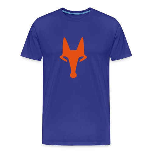 Fox on Blue -  T-Shirt - Männer Premium T-Shirt