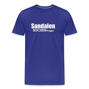 Sandalensockenträger - Männer Premium T-Shirt