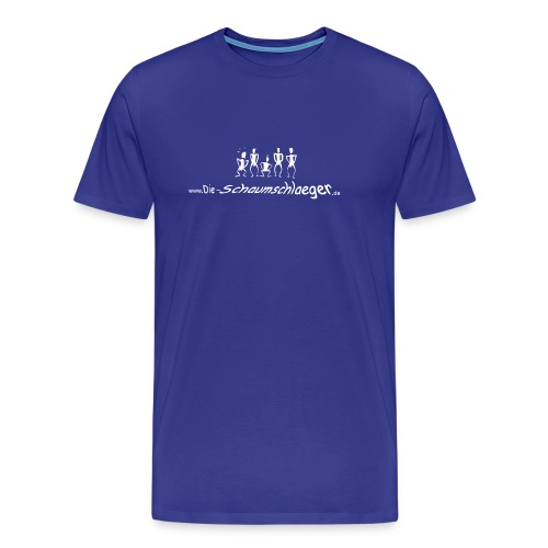 Schaumshirt in Blau (Flock) - Männer Premium T-Shirt